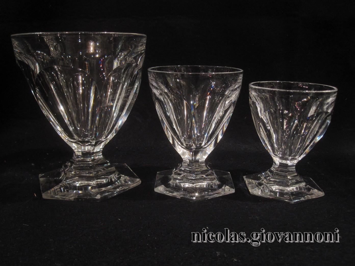 service 42 verres 1 carafe bourbon baccarat cristal. Black Bedroom Furniture Sets. Home Design Ideas