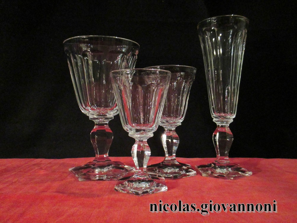 service cristal 44 verres carafe cotes plates 1880 baccarat cristal catalogue. Black Bedroom Furniture Sets. Home Design Ideas