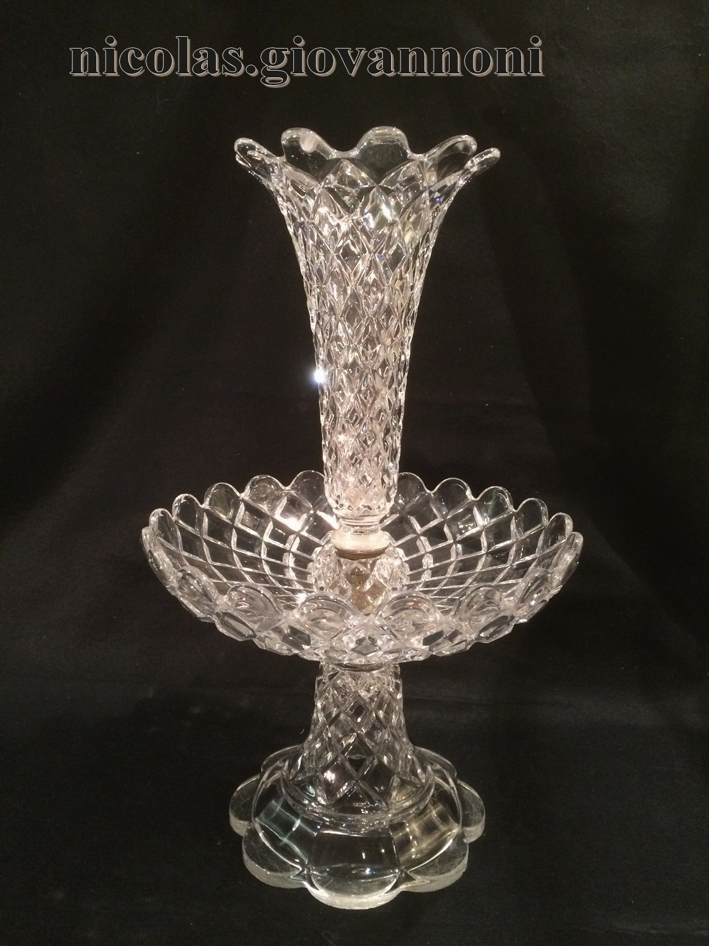 Coupe cornet cristal moul baccarat accessoires catalogue cris - Cristal de baccarat ancien ...