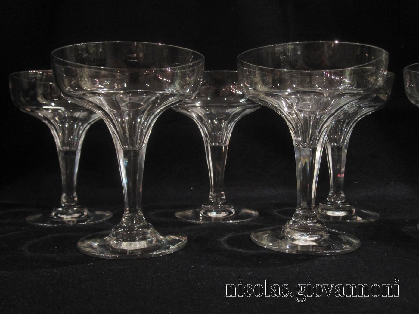 mod le coupes champenoises baccarat cristal catalogue cristal de france nicolas. Black Bedroom Furniture Sets. Home Design Ideas