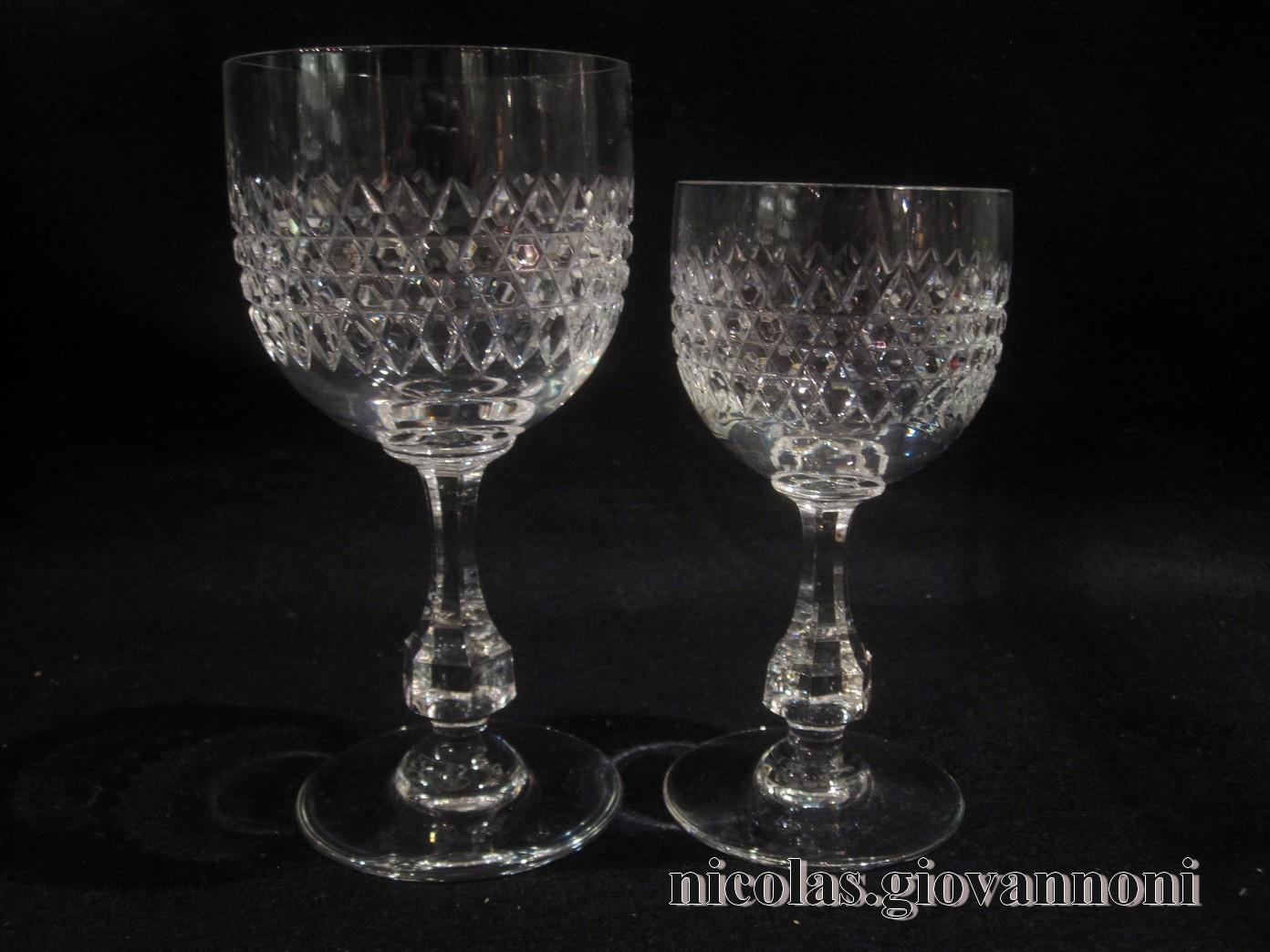 8 verres vin rouge 8 vin blanc lucullus baccarat cristal catalogue cristal de. Black Bedroom Furniture Sets. Home Design Ideas