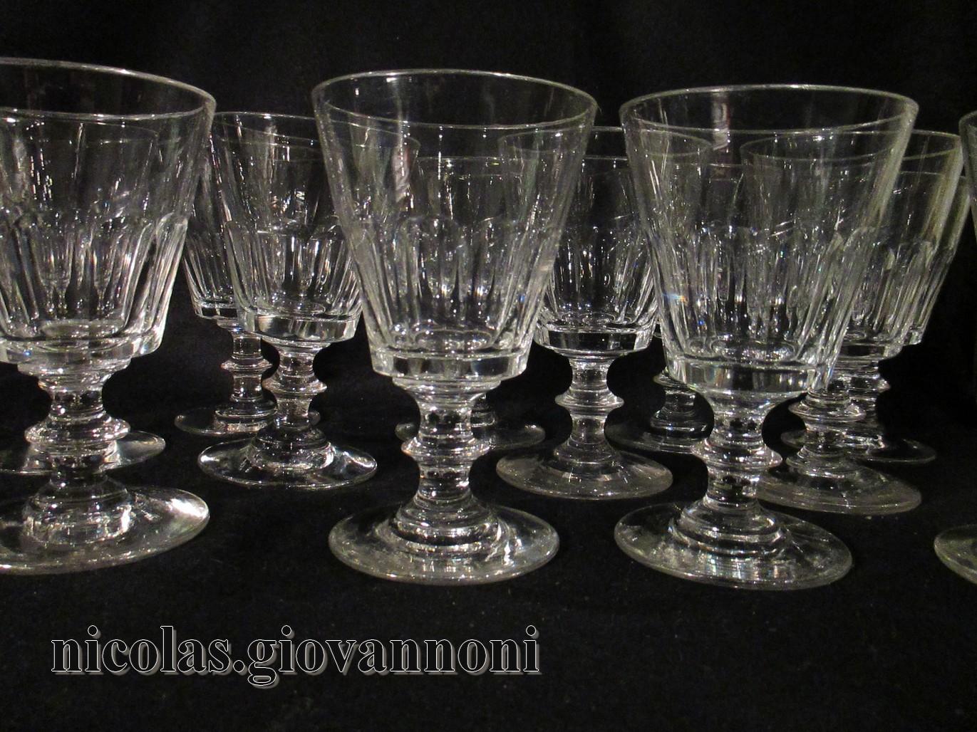 12 verres eau caton 19 me saint louis cristal catalogue cristal d - Verres en cristal anciens ...