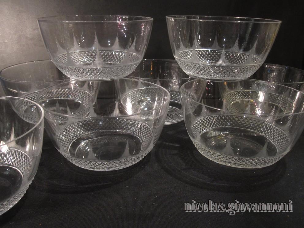 8 bols pointes de diamants fuseaux baccarat cristal catalogue cristal de france. Black Bedroom Furniture Sets. Home Design Ideas
