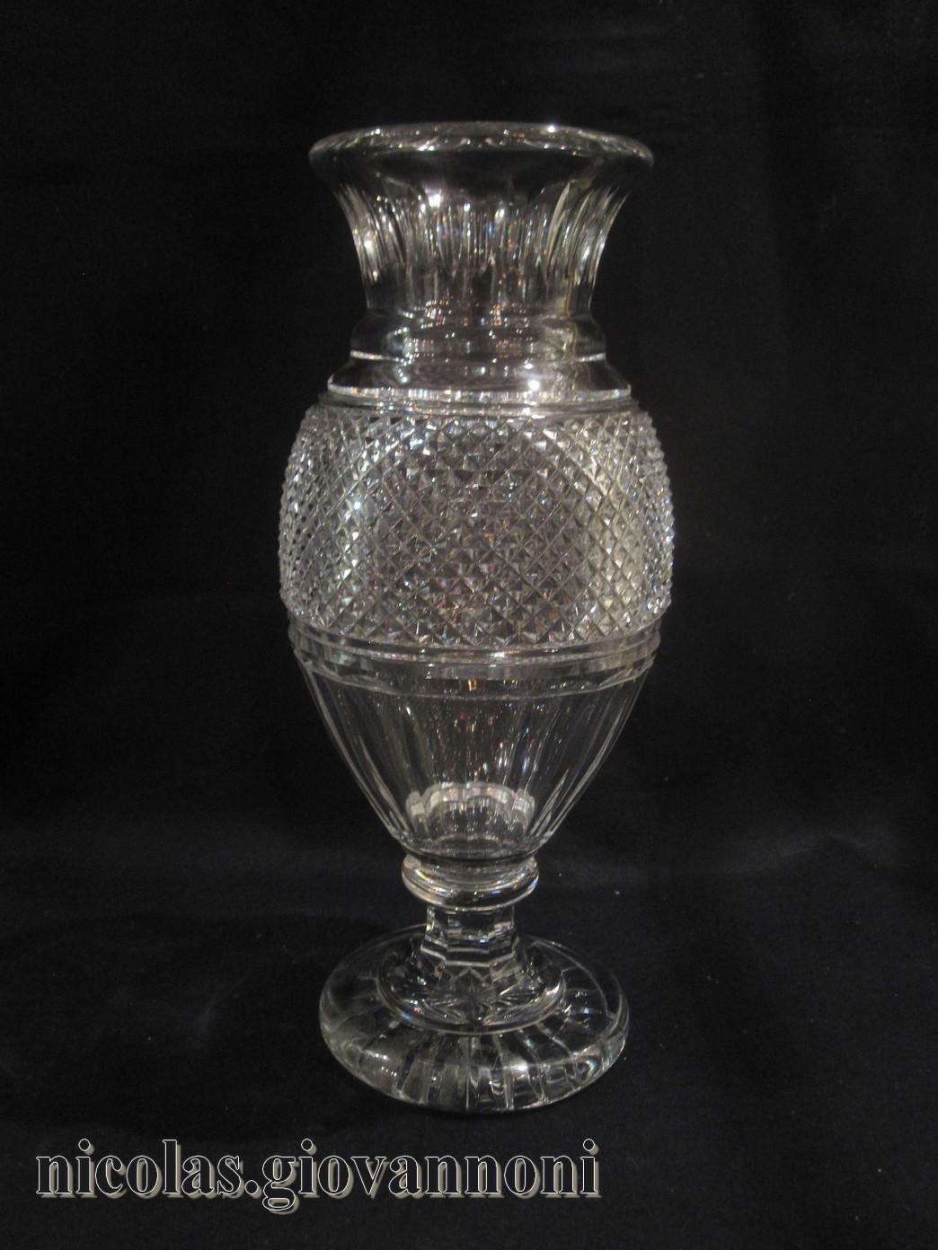 vase 35 cm edwige baccarat vases vases catalogue cristal de france nicolas giovannoni. Black Bedroom Furniture Sets. Home Design Ideas