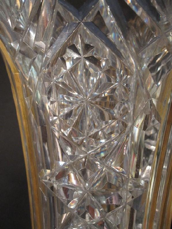 Grand Vase Cristal Taill 233 Et Dor 233 Baccarat Vases