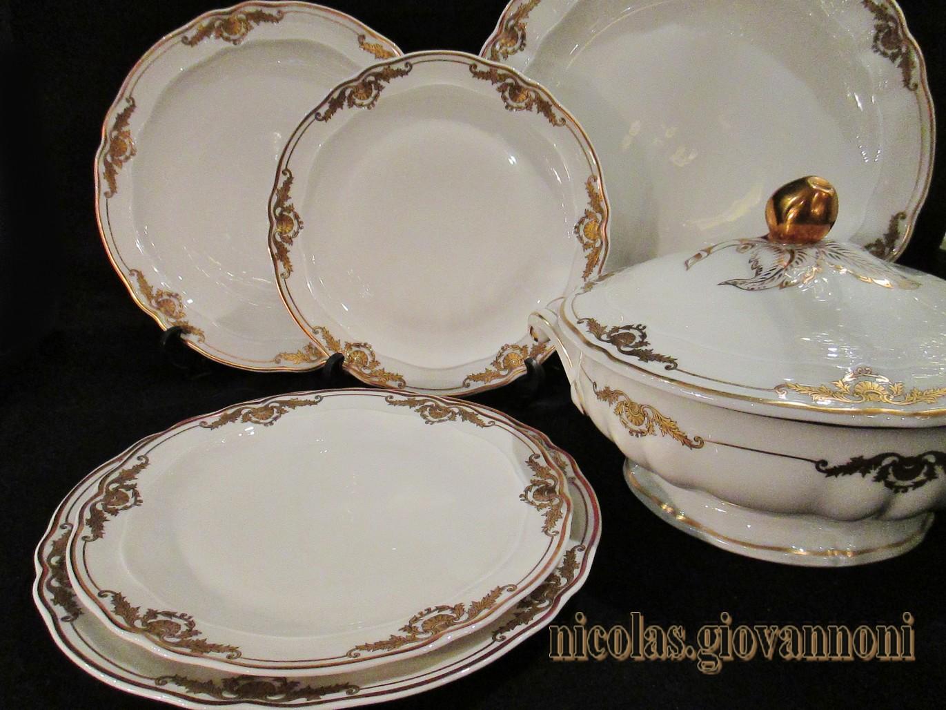 Service de table porcelaine de limoges bernardaud - Prix d un service de table en porcelaine de limoges ...