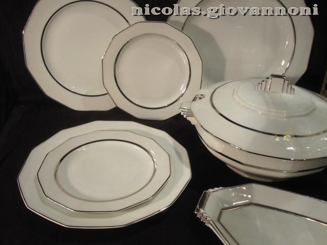Bernardaud cie porcelaine catalogue cristal de for Service de table art deco