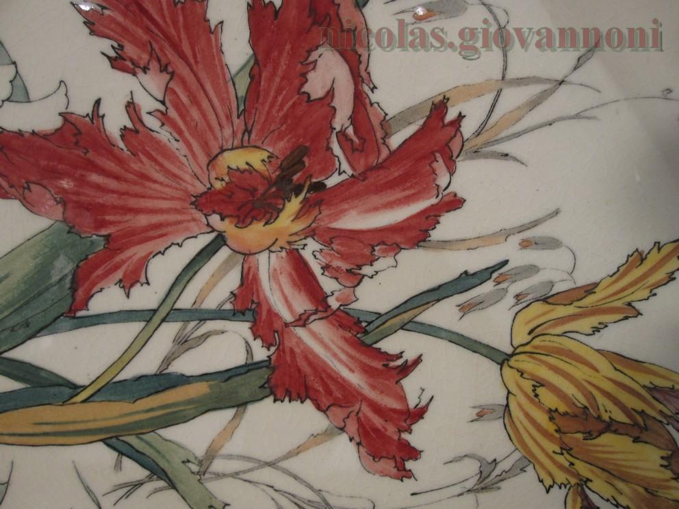 110 Pi 232 Ces Fleurs Polychromes 1880 90 Choisy Le Roy
