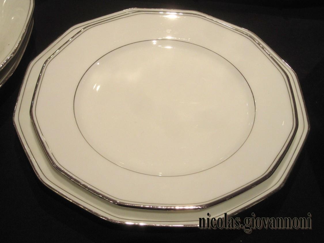 50 pi ces filet platine legrand limoges porcelaine catalogue cristal de france. Black Bedroom Furniture Sets. Home Design Ideas