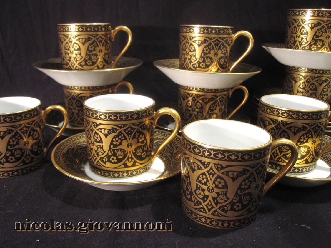 8 tasses caf arts crafts legrand limoges porcelaine catalogue cristal de france. Black Bedroom Furniture Sets. Home Design Ideas