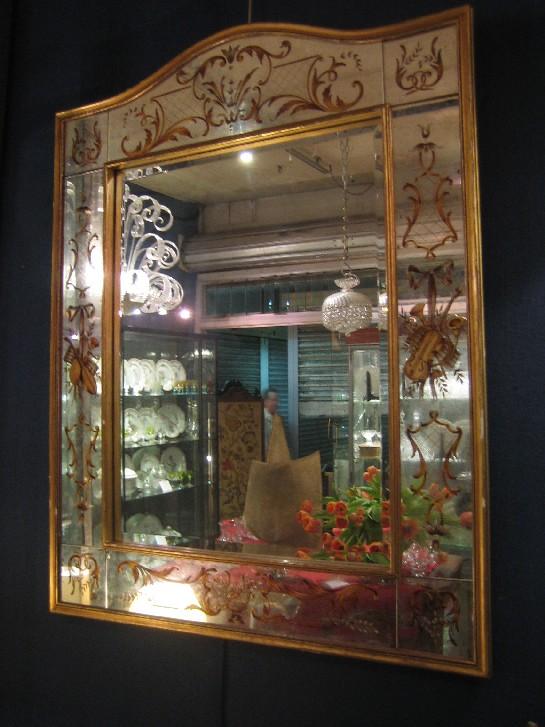 grand miroir d cor dor murano venise miroirs catalogue cristal de france nicolas. Black Bedroom Furniture Sets. Home Design Ideas