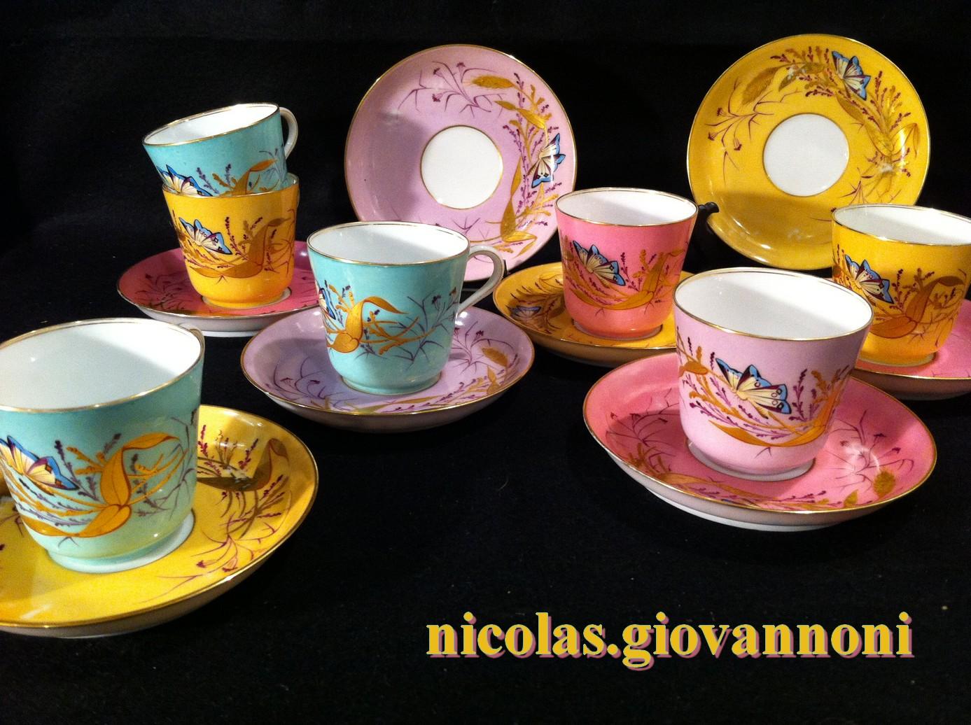 11 tasses caf d cor h vignier porcelaine de paris porcelaine catalogue. Black Bedroom Furniture Sets. Home Design Ideas