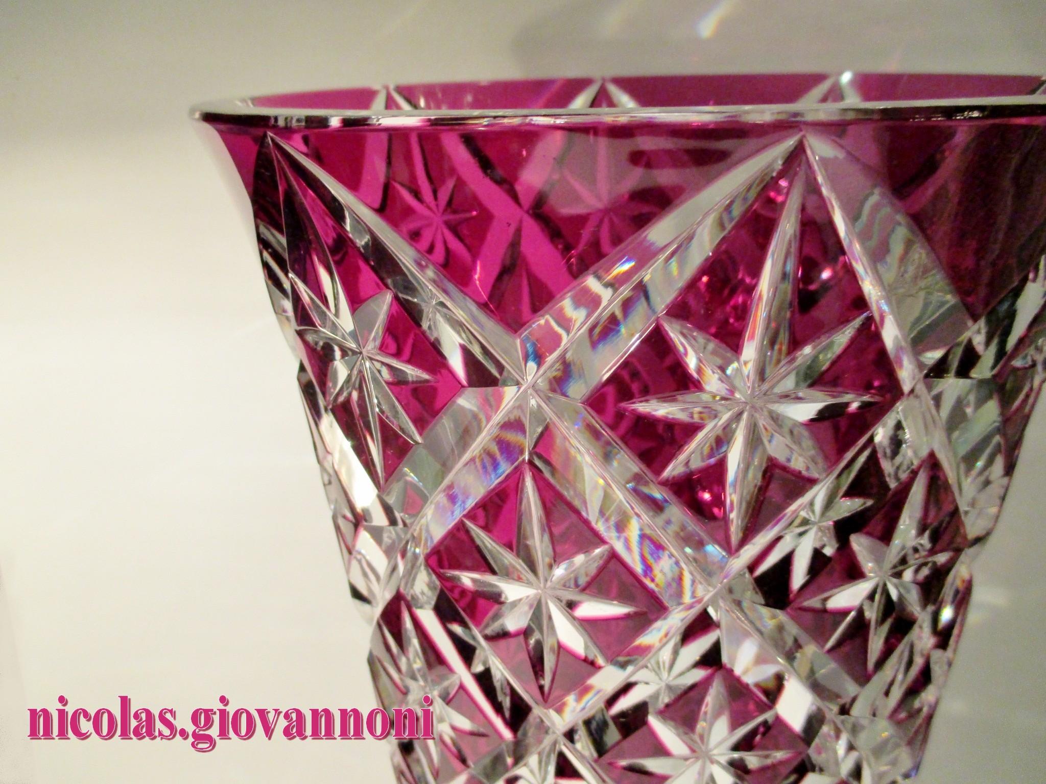 Modele Des Faience : Grand vase cm cristal rouge prune saint louis