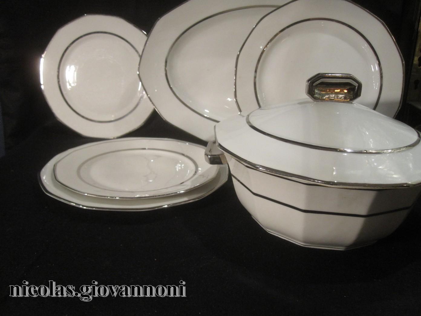 service art deco filet platine legrand limoges porcelaine catalogue cristal de. Black Bedroom Furniture Sets. Home Design Ideas