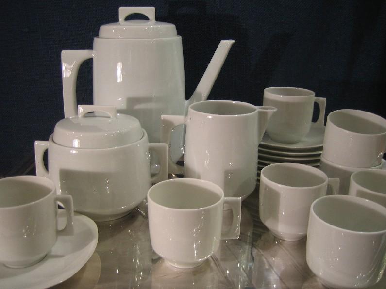 Service à café - design 1960 - Bernardaud & Cie - Porcelaine ...