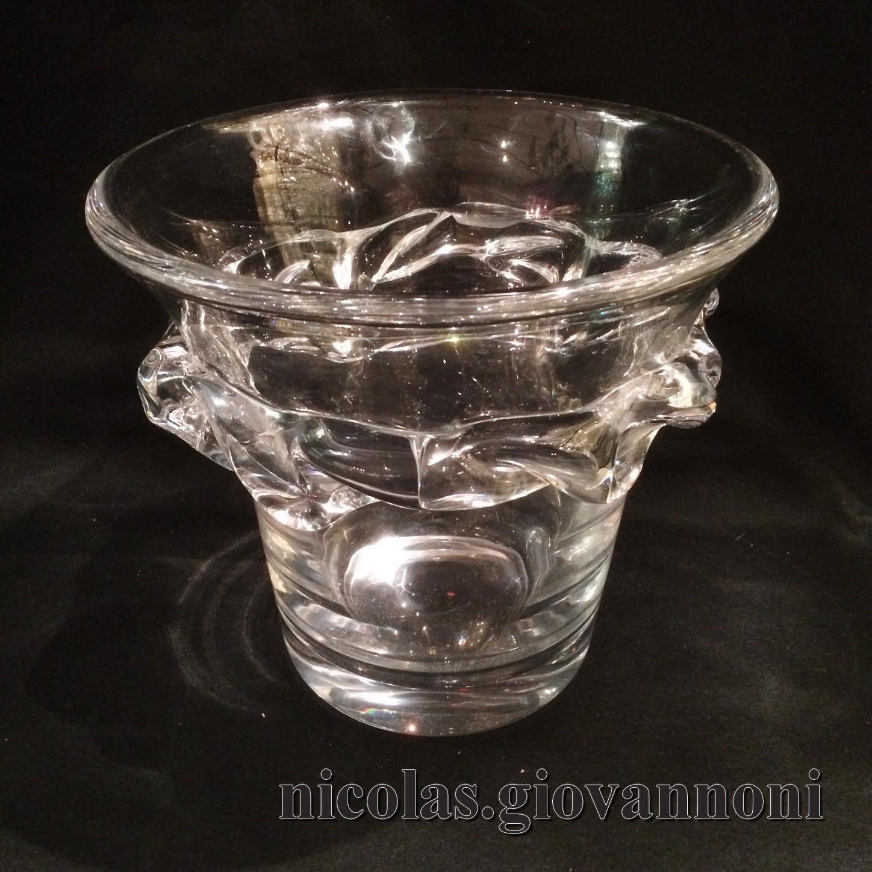 vase seau champagne sorcy daum vases catalogue cristal de france nicolas giovannoni. Black Bedroom Furniture Sets. Home Design Ideas