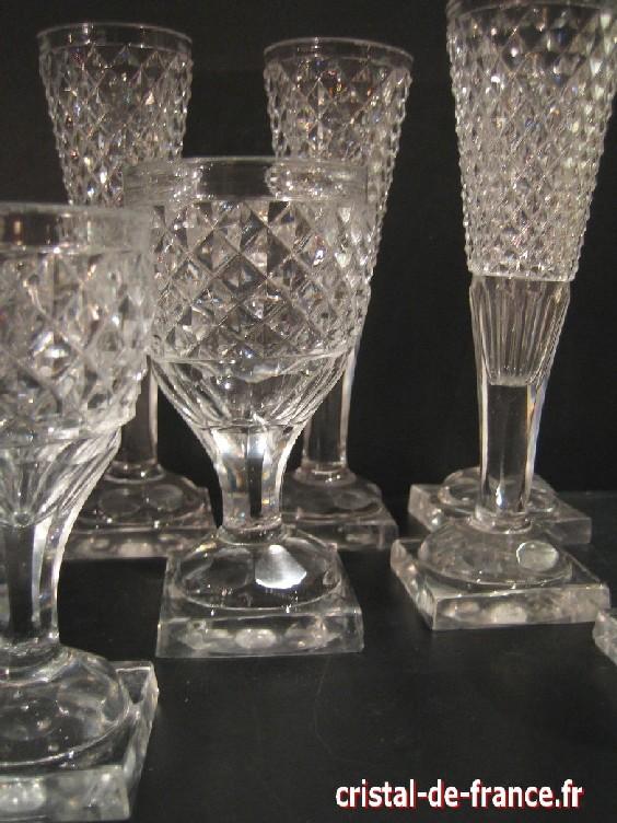 Partie de service cristal moul 19 me cristal for Diamant coupe miroir